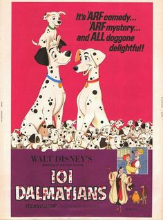 Disney 101 Dalmatians Movie Poster Wood Wall Art - Silver Buffalo - 101 Dalmatians - Artwork at Entertainment Earth Disney Movie Posters, Old Movie Posters, Classic Movie Posters, Original Movie Posters, Disney Films, Disney Pixar, Film Posters, Vintage Disney Posters, Vintage Disney Art