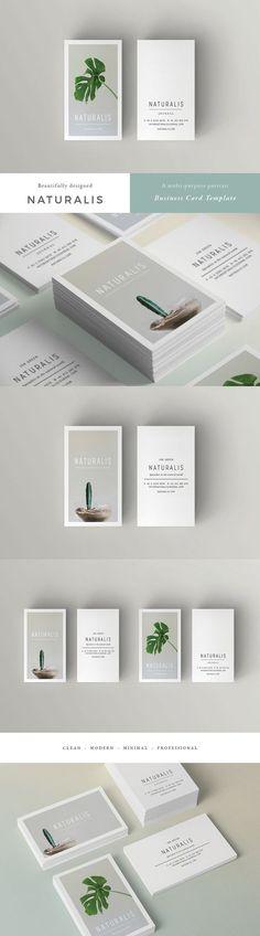 Naturalis Business Card Template #affiliate