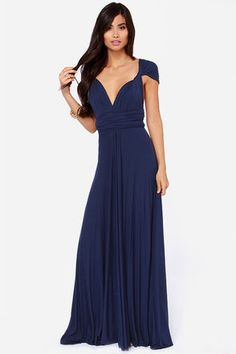 Blue for the bridesmaids