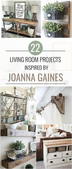 22 Joanna Gains Inspired Living Room Projects. Adorable farmhouse decor projects for a Fixer Upper inspired living room.