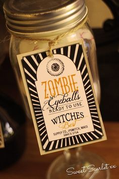 Labels from a Witch's Den Halloween Party via Kara's Party Ideas | KarasPartyIdeas.com (7)