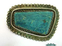 Pasarel - Sterling Silver Filigree Brooch / Pendant, 1950's. $125.00