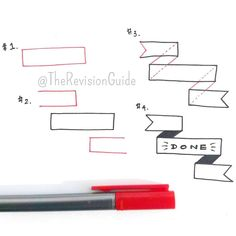 How to draw banners... #TheRevisionGuide_HowTo #TheRevisionGuide_Banners