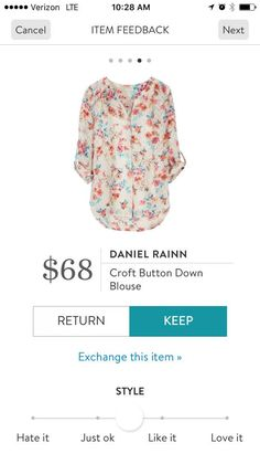 Daniel Rainn Croft Button Down Blouse