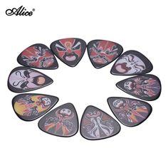 Alice AP-10R1 10pcs/pack Single-sided Color Printing Guitar Picks Plectrum Chinese Opera Mask Series