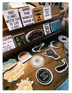 also for the vsco room but dedicated to stickers Laptop Stickers, Cute Stickers, Mac Stickers, Printable Stickers, Bumper Stickers, Happy Vibes, Pin And Patches, Summer Aesthetic, Beach Aesthetic