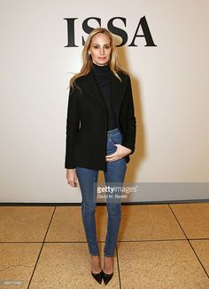 Lauren Santo Domingo attends the ISSA Autumn/Winter 2015 Runway Show...