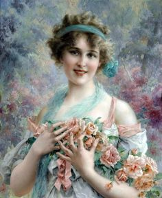The Rose Girl by Emile Vernon - Date unknown