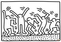 Dancing Figures by Keith Haring coloring page | Free Printable Coloring Pages