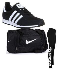 """""""My First Polyvore Outfit"""" by miss-gxiara ❤ liked on Polyvore featuring adidas Originals, adidas and NIKE"""