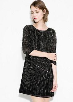 Flared skirt dress - Dresses for Women | MANGO