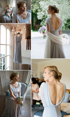Coloured Wedding Dresses ~ Inspiration For the Bride Who Doesn't Want To Wear White  Pale blue wedding dress  Belle and Bunty wedding dress  Photography  by http://www.photosbyjessica.co.uk/
