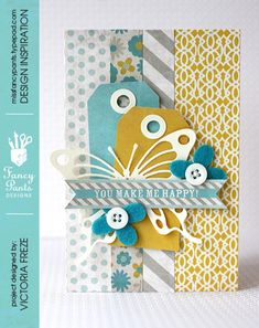 Happy card by Victoria Freze using the Park Bench collection by Fancypantsdesigns.com