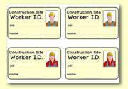 Construction Site I.D./badges
