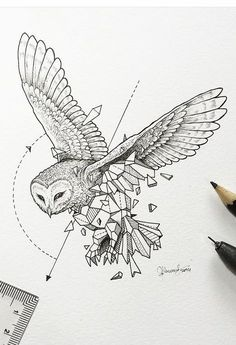 Straight Lines Only Contest (Or Con Short) Geometric Tattoo Nature, Geometric Art, Black And White Wall Art, Black And White Drawing, White Owl Tattoo, Biblical Tattoos, Hanya Tattoo, Nordic Runes, Glyph Tattoo