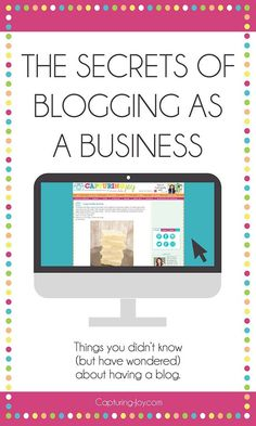 Everything you want to know about blogging as a business! Great tips and tricks! WAHM Ideas #WAHM #workathom