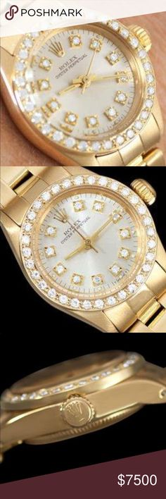 A Ladies ROLEX PRRSIDENT Mint Condition Spectacular Condition Box Papers Apprasial And Since We Like All Rolex Dealers Only Take BANKWIRE Transfer Only And Use FedEx Priority Overnight  This And All Of Our Items Are Open To Some Negotiation Not The Insulting Kind Please !! ROLEX Jewelry Bracelets