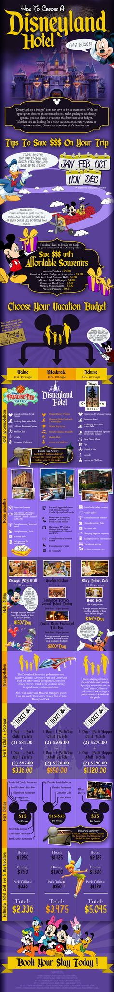 Choosing a Disneyland Hotel on a Budgget [Infographic] | Hotels US Travel | Hotels.com