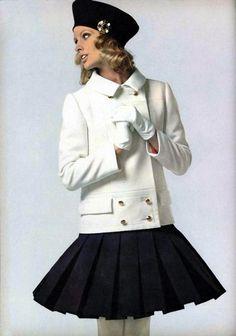 Fashion by Nina Ricci, 1968.