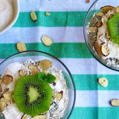 This Matcha, Lime & Coconut Chia Pudding recipe makes for a refreshing powerhouse dessert that will indulge your wellbeing, as well as your sweet tooth. http://bit.ly/1QaKeyP