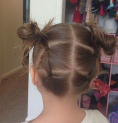 Cute  & easy hairstyle for little girls with short hair