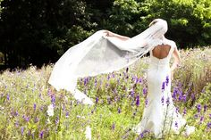 The bride in all her wonder. . .