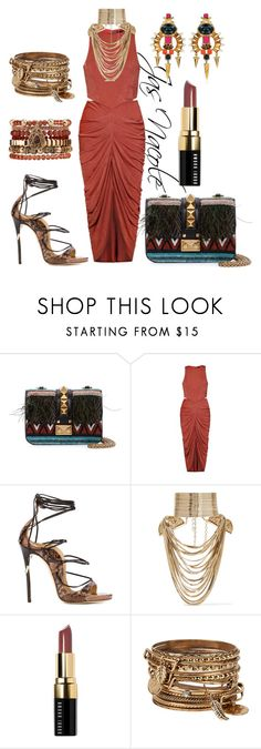"""""""Jas'Nacole740"""" by jasnacole ❤ liked on Polyvore featuring Valentino, Ally Fashion, Dsquared2, Lizzie Fortunato, Rosantica, Bobbi Brown Cosmetics, ALDO, Samantha Wills, women's clothing and women"""