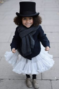 Gorgeous little white tut for little fashionistas