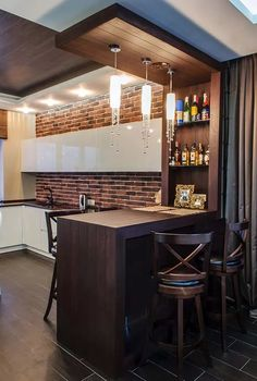 10 Stylish Home Bar Designs That Make You Relaxed – Homely Kitchen Bar Design, Home Decor Kitchen, Interior Design Kitchen, Bar Counter Design, Interior Ideas, Home Room Design, House Design, Home Bar Rooms, Modern Home Bar