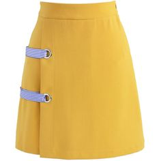 Chicwish Leisure Direction Flap Bud Skirt in Mustard (1,840 PHP) ❤ liked on Polyvore featuring skirts, yellow, yellow skirts, mustard skirt, mustard yellow skirt and chicwish skirt