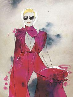 Fashion Illustration for a Book by Yuriy Ratush