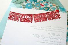 papel picado letterpress invitations by Parrott Design Studio