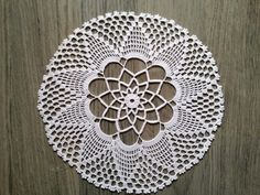 Vintage crochet doily 7 white cotton lace round by EstersDoilies, $6.50