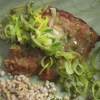 veal scaloppine with lemon capers and leeks veal scaloppine with lemon ...