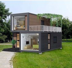 35 Best Shipping Container House Ideas- 2020 - Page 30 of 35 - coloredbikinis. Tiny House Cabin, Tiny House Living, Tiny House Plans, Small House Design, Modern House Design, Building A Container Home, Architecture Design, Container Architecture, Sustainable Architecture