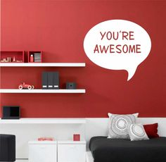 You Are Awesome Inspirational Quote Vinyl Wall Lettering Decal