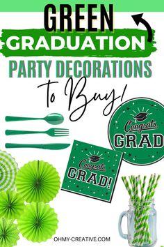Graduation Party Desserts, Grad Party Decorations, Graduation Banner, Kids Party Themes, Grad Parties, Graduation Ideas, Party Ideas, Colorful Party, School Colors