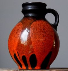 RETRO Vintage 60-70's STEULER 510/15 Vase West German Pottery Art Fat Lava Era