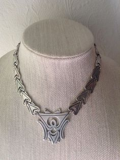 Vintage Sterling Silver Mid Century Modern Necklace Choker Monterey Arturos Mex #Choker