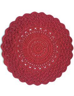 Red crochet doily!! www.etsy.com/shop/linklooplove