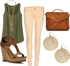 """""""Tank Top Spring Ouftit"""" by theccnetwork on Polyvore"""