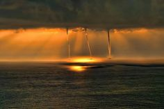 Waterspouts on the Mediterranean off the coast of Turkey- Mehmet Gökyigit