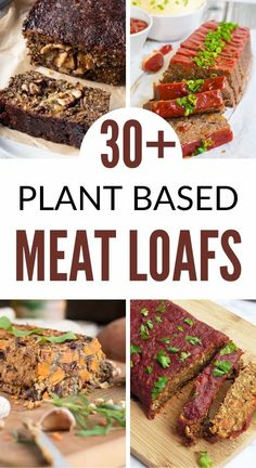 30 healthy plant based meat loaf recipes with lentils, Beyond meat, mushrooms, and more. Get your plant based protein with these vegan loaf recipes!