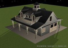 barn with living quarters floor plans - Google Search ...