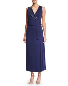 Sleeveless+Embellished+Wrap+Gown,+Ink+by+Giorgio+Armani+at+Neiman+Marcus.