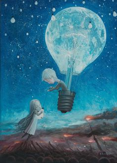 He Gave me The Brightest Star ll oil on canvas 50x70cm adrian borda