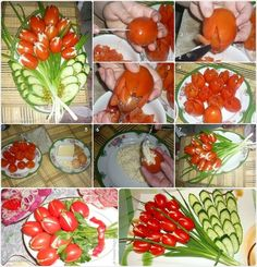 Tomatentulpen - This Tomato Tulips Salad is Yummy and Beautiful for a Party Platter