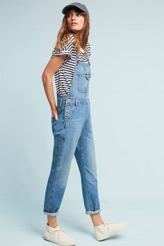 Slide View: 3: AG Leah Straight Cropped Overalls #dressescasual