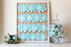 Love the simplicity of this from @A Whole Lotta Love of Family  & Home - this was made out of cheap cut-up Wal*Mart cards!
