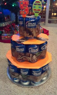 """Budlight """"Man Cake""""  ..I have a feeling a few of my guy friends would be more than happy to have this"""